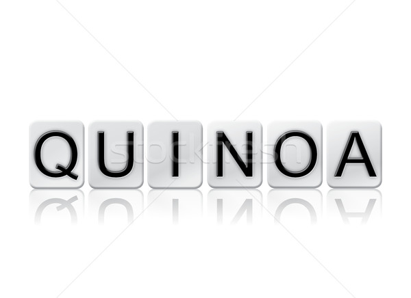 Quinoa Isolated Tiled Letters Concept and Theme Stock photo © enterlinedesign