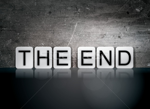 The End Tiled Letters Concept and Theme Stock photo © enterlinedesign