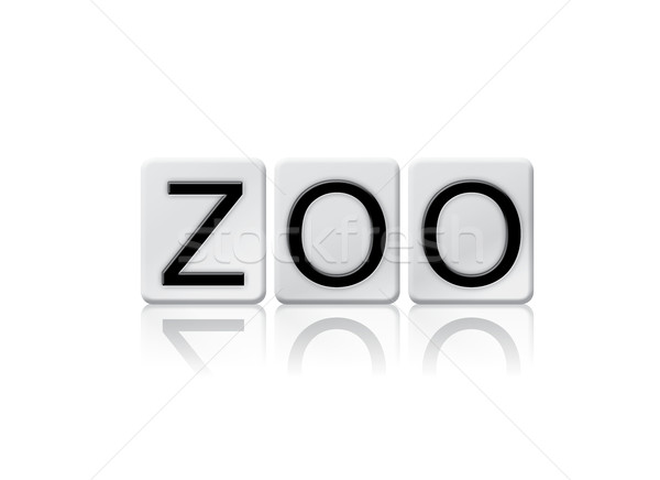 Zoo Isolated Tiled Letters Concept and Theme Stock photo © enterlinedesign
