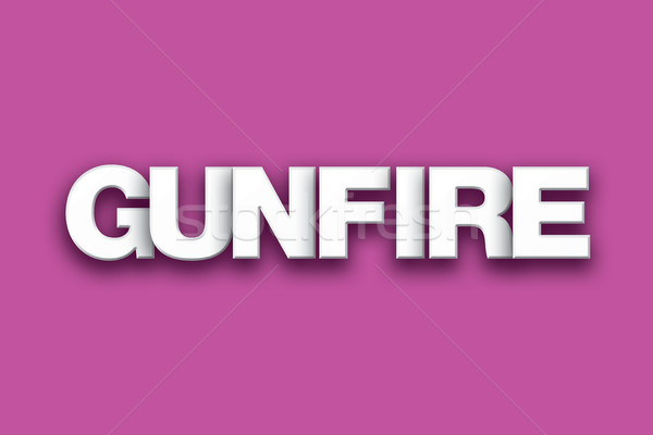 Gunfire Theme Word Art on Colorful Background Stock photo © enterlinedesign
