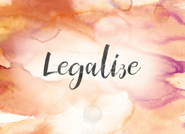 Legalize Concept Watercolor and Ink Painting Stock photo © enterlinedesign