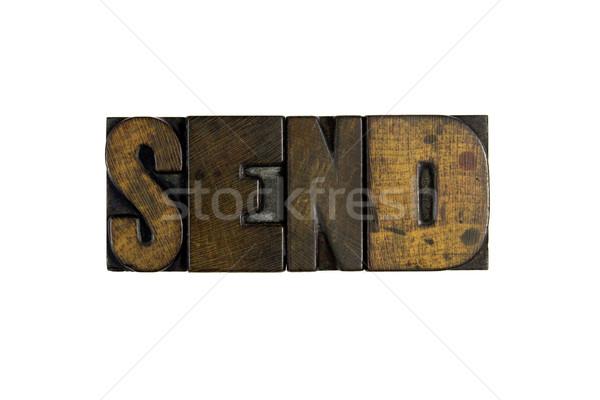 Enviar palabra escrito vintage Foto stock © enterlinedesign