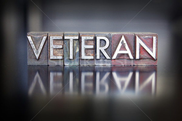 Veteran Letterpress Stock photo © enterlinedesign