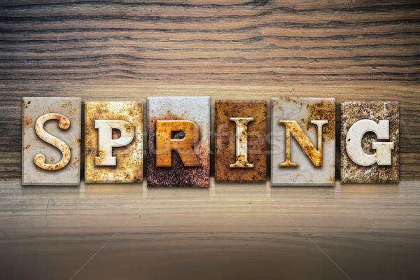Spring Concept Letterpress Theme Stock photo © enterlinedesign