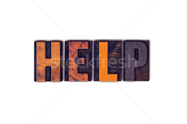 Stock photo: Help Concept Isolated Letterpress Type