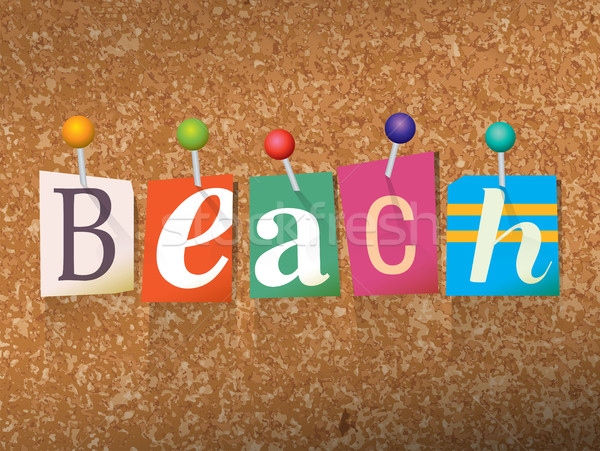 Beach Concept Pinned Letters Illustration Stock photo © enterlinedesign