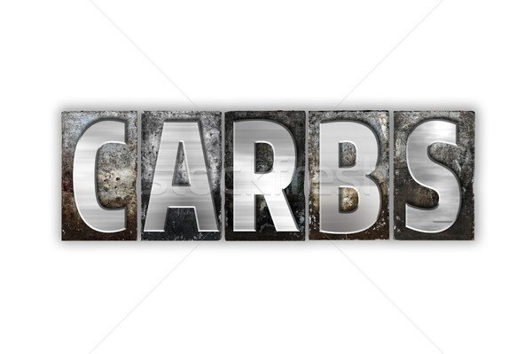 Carbs Concept Isolated Metal Letterpress Type Stock photo © enterlinedesign