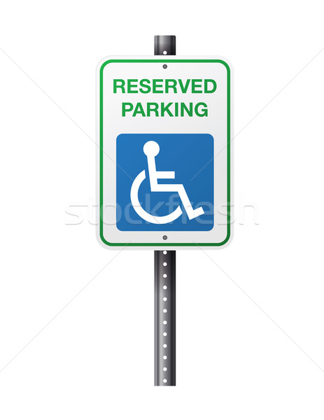 Handicap parking signe illustration réserve symbole Photo stock © enterlinedesign