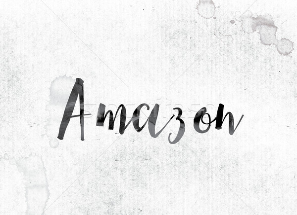 Amazon Concept Painted in Ink Stock photo © enterlinedesign