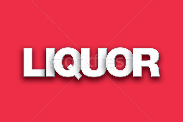 Liquor Theme Word Art on Colorful Background Stock photo © enterlinedesign