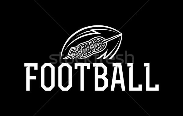 Amerikaanse voetbal bal illustratie icon vector Stockfoto © enterlinedesign