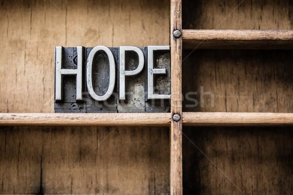 Remény magasnyomás fiók szó írott Stock fotó © enterlinedesign