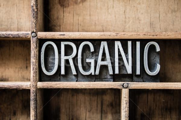 Organic Letterpress Type in Drawer Stock photo © enterlinedesign