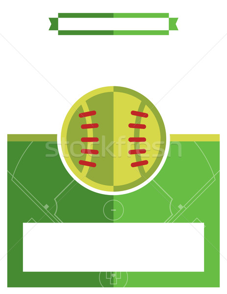 Beysbole benzer top oyunu oyun uçan örnek şablon vektör Stok fotoğraf © enterlinedesign