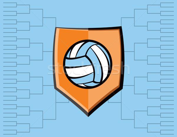 Voleibol emblema torneo vector eps 10 Foto stock © enterlinedesign