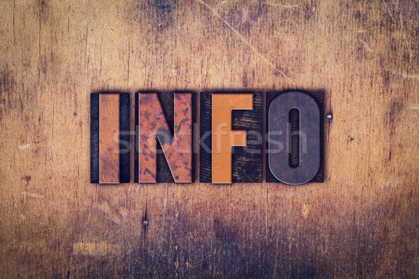 Info Concept Wooden Letterpress Type Stock photo © enterlinedesign