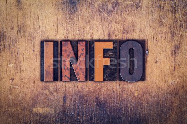 Info typu słowo napisany Zdjęcia stock © enterlinedesign