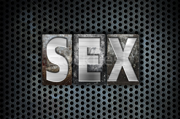 Sex Concept Metal Letterpress Type Stock photo © enterlinedesign