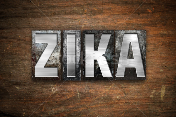 Stock photo: Zika Concept Metal Letterpress Type