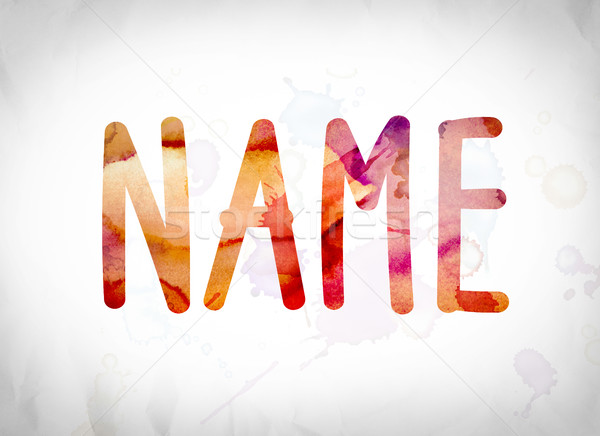 Name Concept Watercolor Word Art Stock photo © enterlinedesign