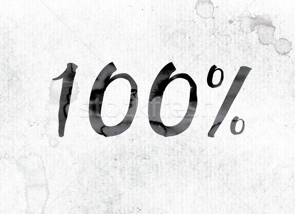 100 Percent Concept Painted in Ink Stock photo © enterlinedesign