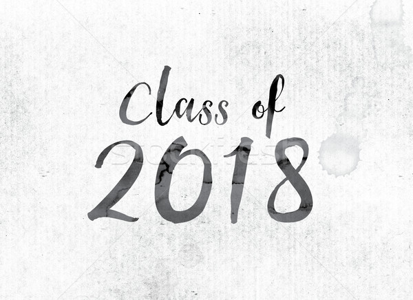 Class of 2018 Concept Painted in Ink Stock photo © enterlinedesign