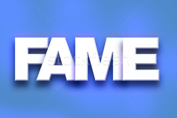 Stock photo: Fame Concept Colorful Word Art