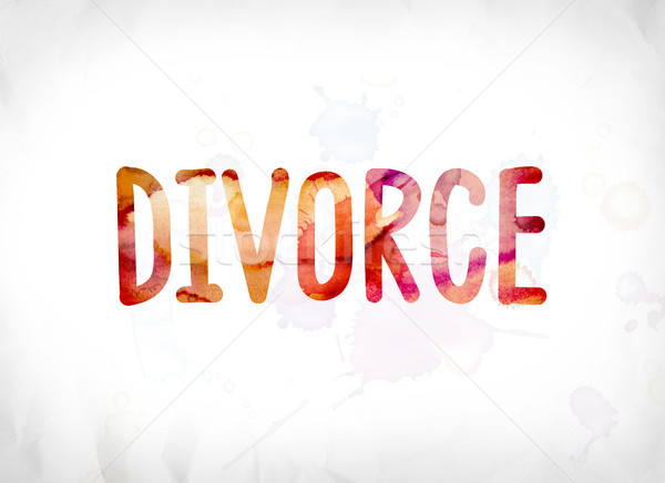 Divorce Concept Painted Watercolor Word Art Stock photo © enterlinedesign