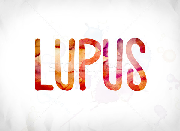 Lupus Concept Painted Watercolor Word Art Stock photo © enterlinedesign