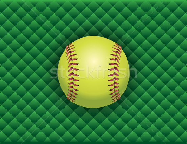 Softball verde illustrazione vettore eps Foto d'archivio © enterlinedesign
