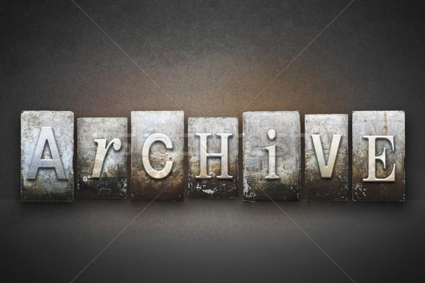 Archivio parola scritto vintage tipo Foto d'archivio © enterlinedesign