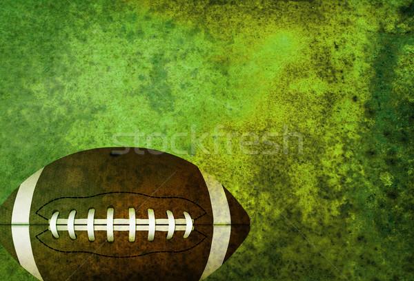 Amerikan futbol sahası top yeşil oda Stok fotoğraf © enterlinedesign