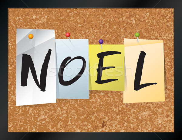Noel Bulletin Board Theme Illustration Stock photo © enterlinedesign