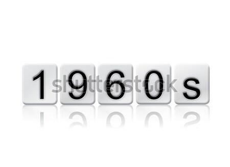 1980 izolat pardoseala de gresie litere cuvant scris Imagine de stoc © enterlinedesign