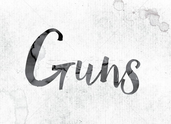 Guns Concept Painted in Ink Stock photo © enterlinedesign