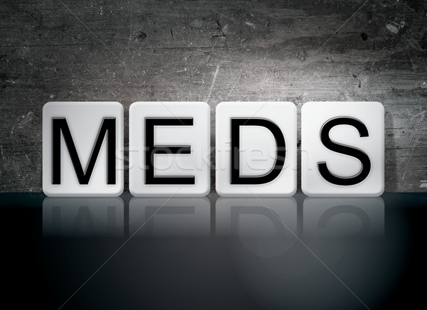 Meds Tiled Letters Concept and Theme Stock photo © enterlinedesign