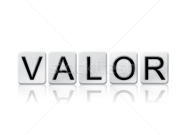Valor Isolated Tiled Letters Concept and Theme Stock photo © enterlinedesign