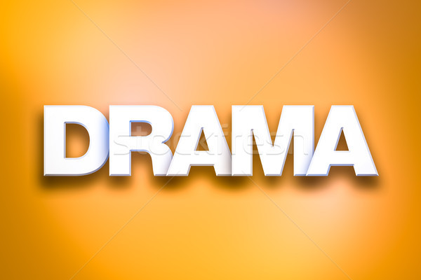 Drama Theme Word Art on Colorful Background Stock photo © enterlinedesign
