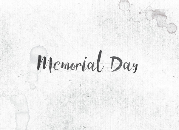 Memorial Day Concept Painted Ink Word and Theme Stock photo © enterlinedesign