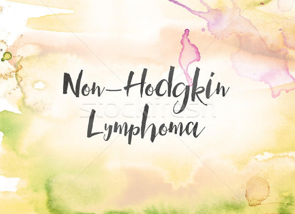 Non-Hodgkin Lymphoma Concept Watercolor and Ink Painting Stock photo © enterlinedesign