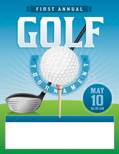 Golf Tournament Illustration Stock photo © enterlinedesign