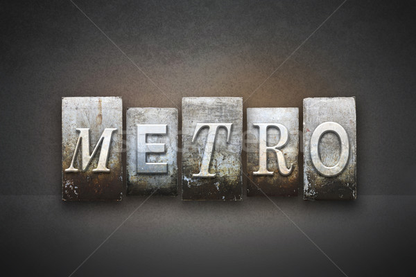 Metro Letterpress Stock photo © enterlinedesign