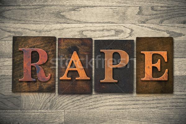 Violación palabra escrito vintage Foto stock © enterlinedesign