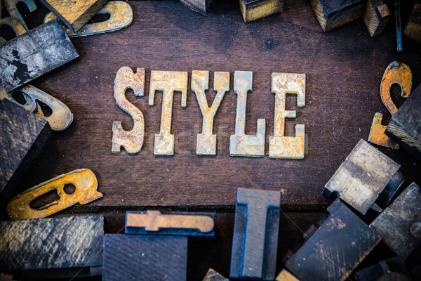 Style Concept Rusty Type Stock photo © enterlinedesign