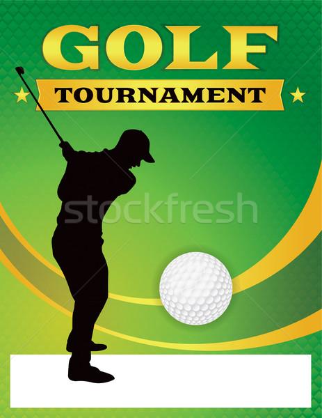 Green Golf Tournament Flyer Illustration Stock photo © enterlinedesign