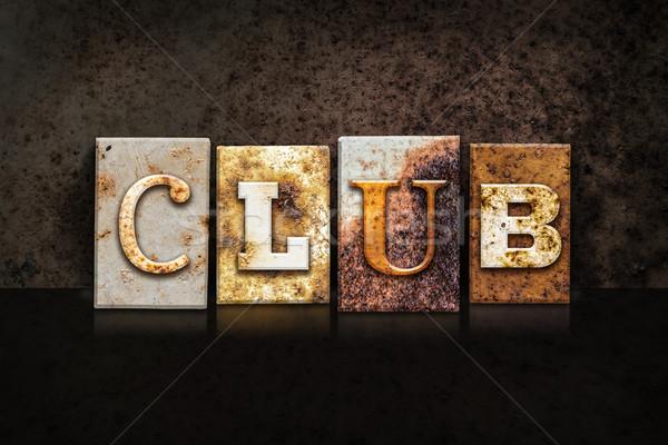 Club Letterpress Concept on Dark Background Stock photo © enterlinedesign