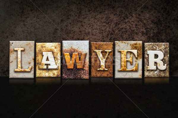 Lawyer Letterpress Concept on Dark Background Stock photo © enterlinedesign