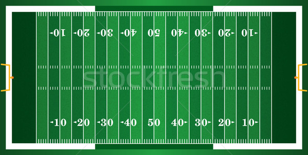 Textured Grass American Football Field Stock photo © enterlinedesign