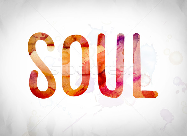 Soul Concept Watercolor Word Art Stock photo © enterlinedesign