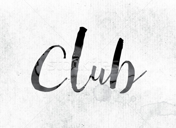 Club Concept Painted in Ink Stock photo © enterlinedesign
